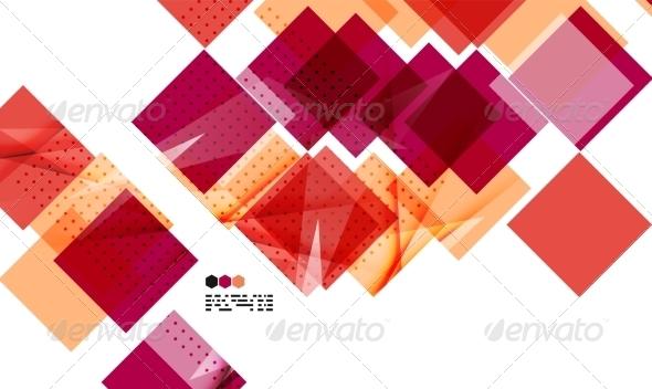GraphicRiver Bright red geometric Modern Design Template 8018478