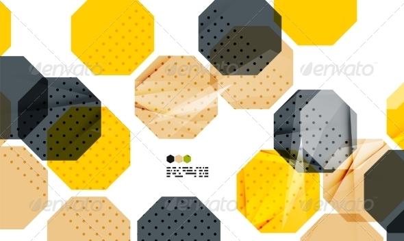 GraphicRiver Bright Yellow Geometric Modern Design Template 8018520