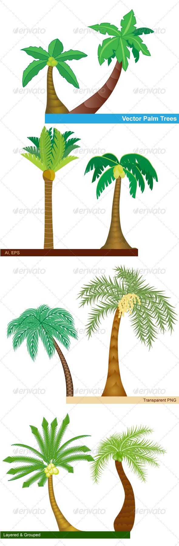 GraphicRiver Palm Trees 8018529