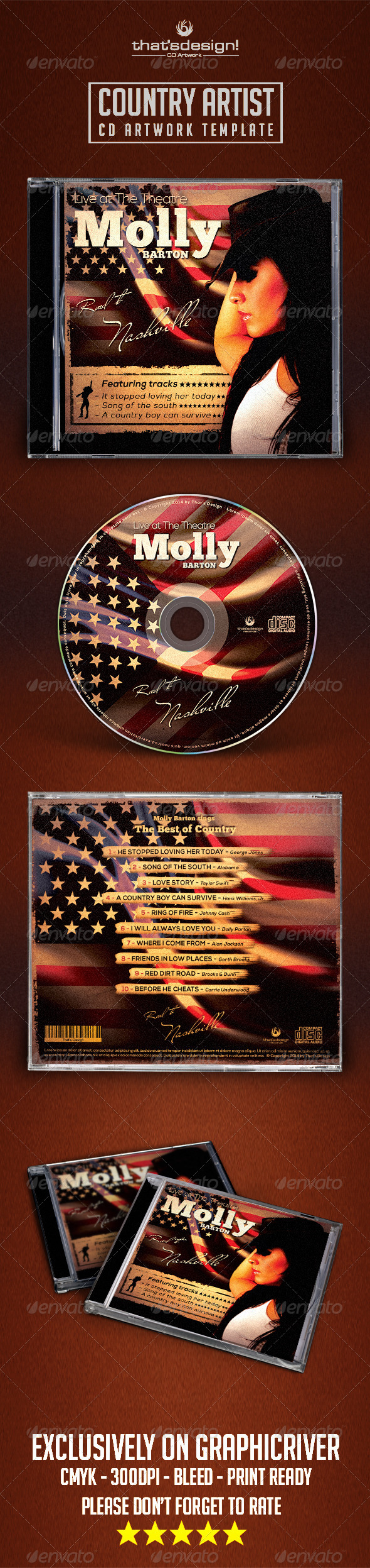 GraphicRiver Country CD Album Artwork Template 8018536