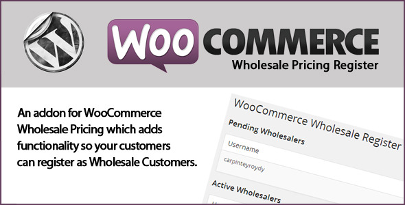 WooCommerce Wholesale Register