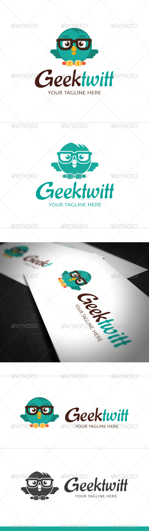 GraphicRiver Geek Twitt Logo Template 8018662