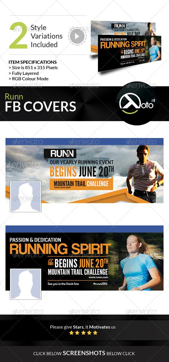 GraphicRiver Runn Marathon Running Club Fitness FB Banners 8018778