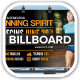 Runn Marathon Running Club Fitness Billboards - GraphicRiver Item for Sale