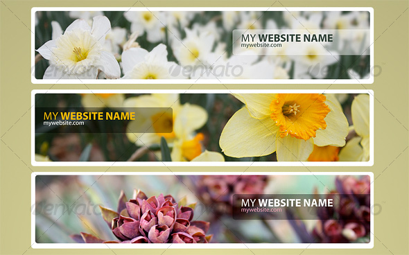 GraphicRiver Web Headers Flower Pack 34055