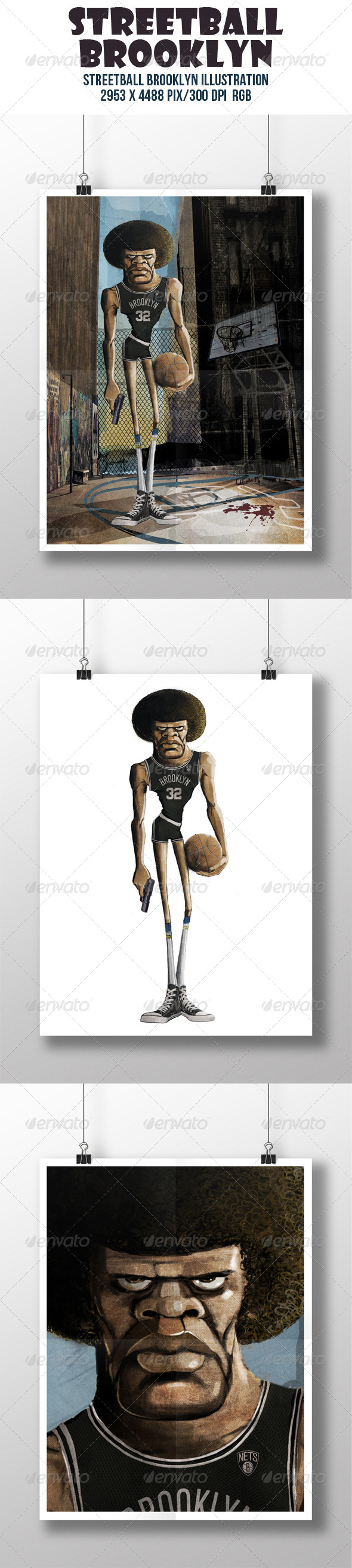 GraphicRiver Streetball Brooklyn Illustration 8019098