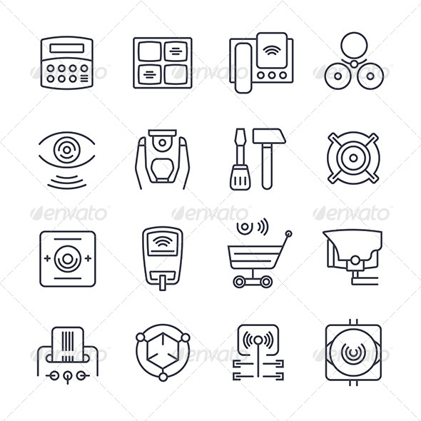 GraphicRiver Security Icons 8019105