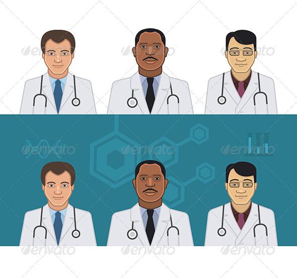 GraphicRiver Doctors Avatars 8019128