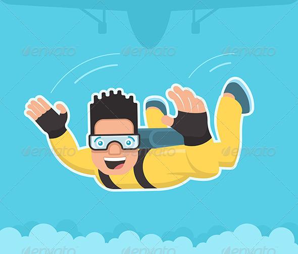GraphicRiver Skydiver 8019150
