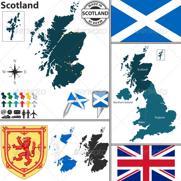 GraphicRiver Map of Scotland 8019213