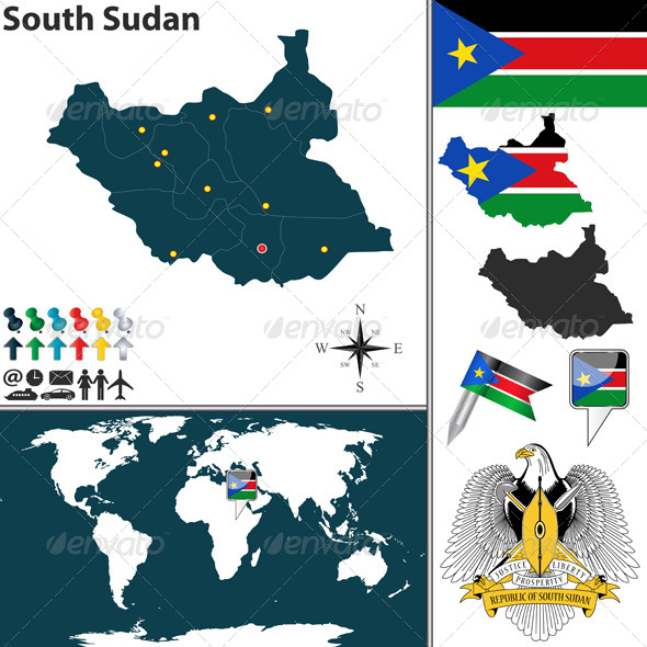 GraphicRiver Map of South Sudan 8019221