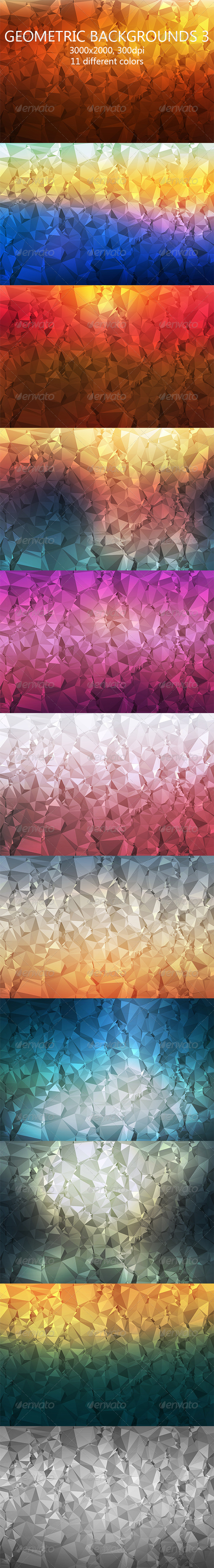 Geometric Backgrounds 3