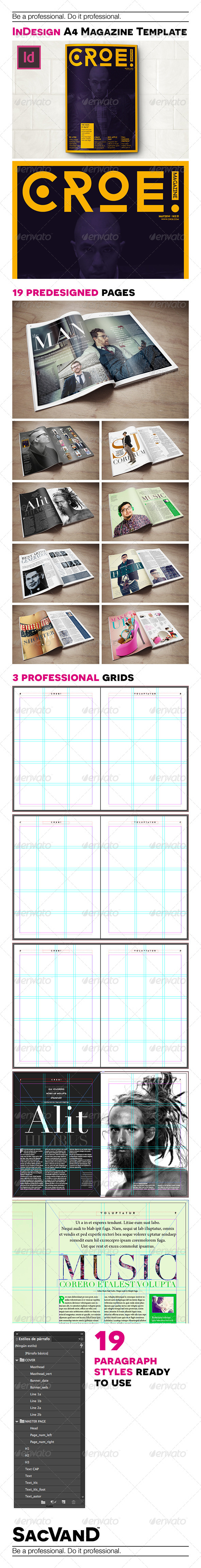 GraphicRiver InDesign A4 magazine template 8001265