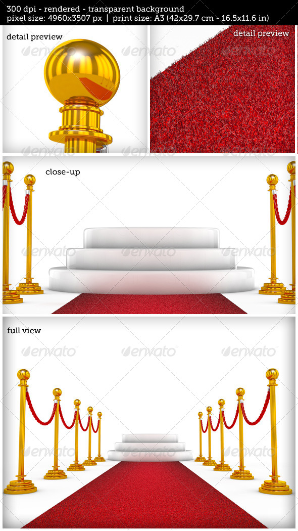 GraphicRiver Winner Podium with Red Carpet 8020061