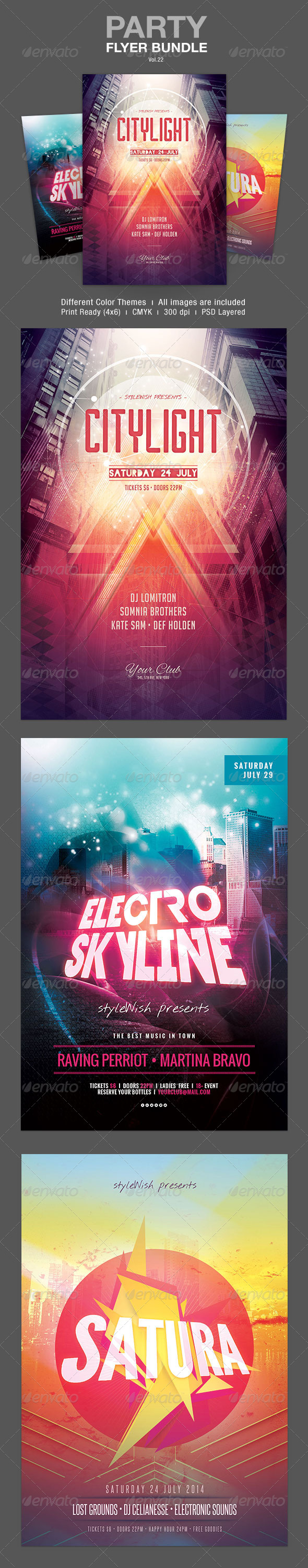 GraphicRiver Party Flyer Bundle Vol.22 8020075