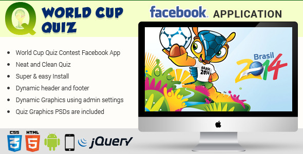 CodeCanyon Facebook World Cup Quiz Contest Application 7986835