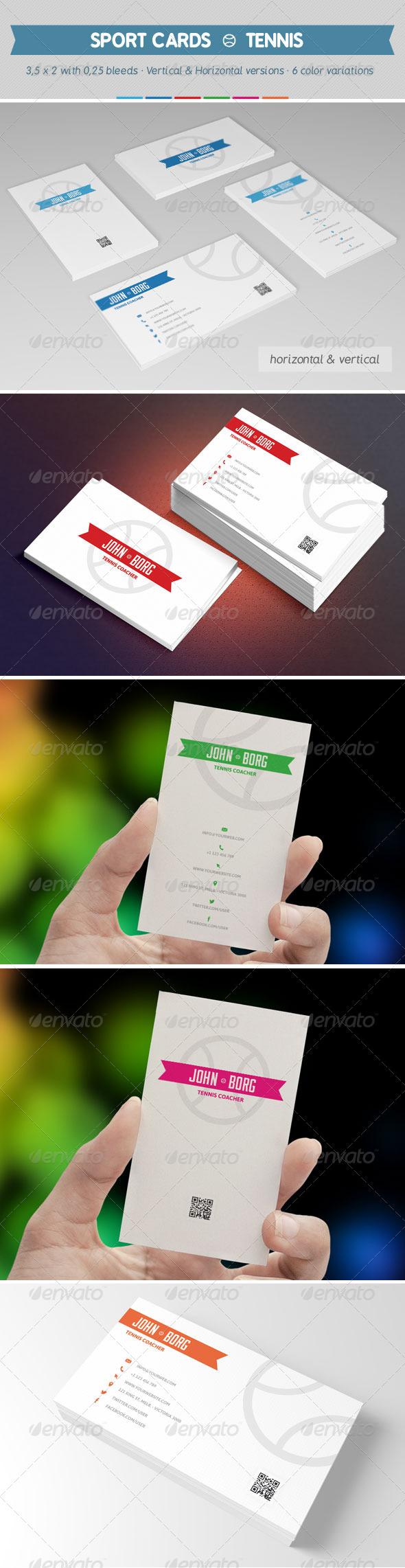 GraphicRiver Sport Business Cards Tennis 8020097