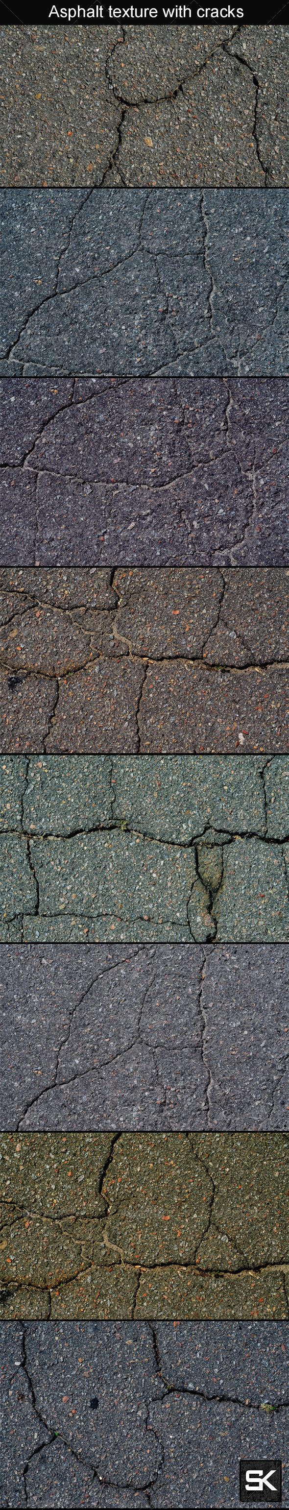 GraphicRiver Asphalt Texture With Cracks 8020110