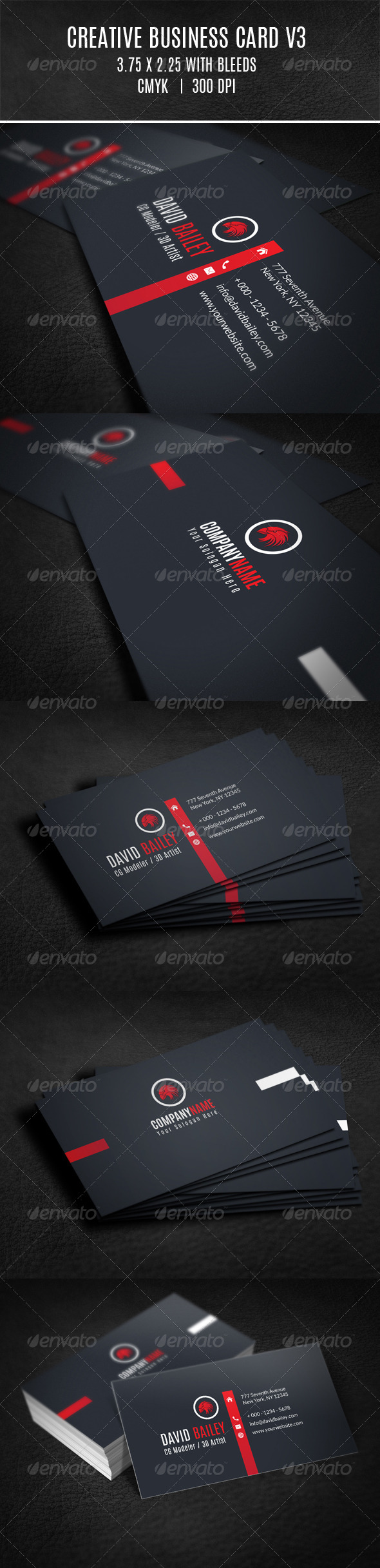 GraphicRiver Creative Business Card V3 8020198