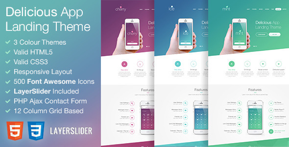 Delicious - Responsive App Landing HTML Theme - Apps Technology