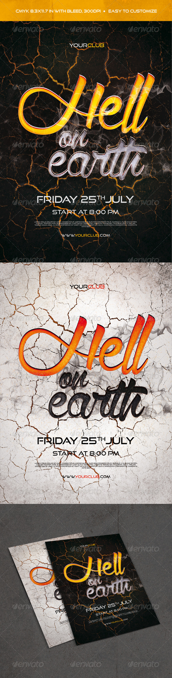 GraphicRiver Hell On Earth Flyer 8020349