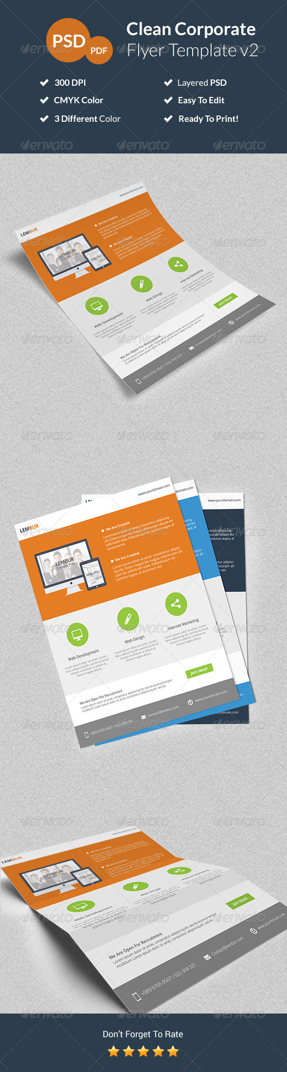 GraphicRiver Clean Corporate Flyer v2 8020375