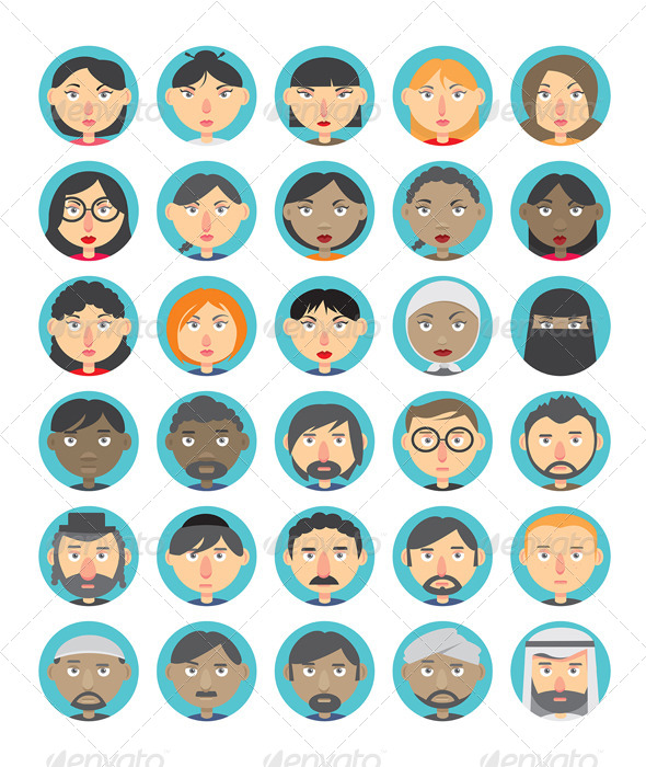 GraphicRiver People Avatar Set 8020562