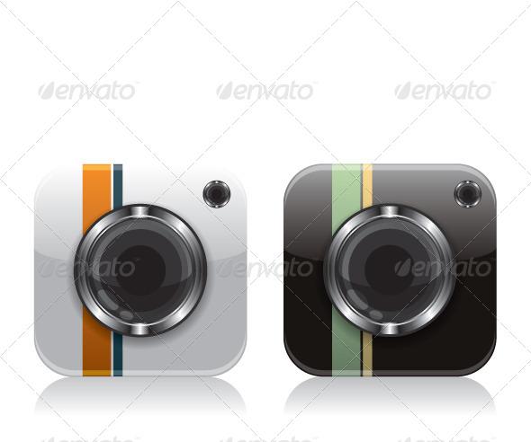 GraphicRiver Retro Camera Icons 8020594