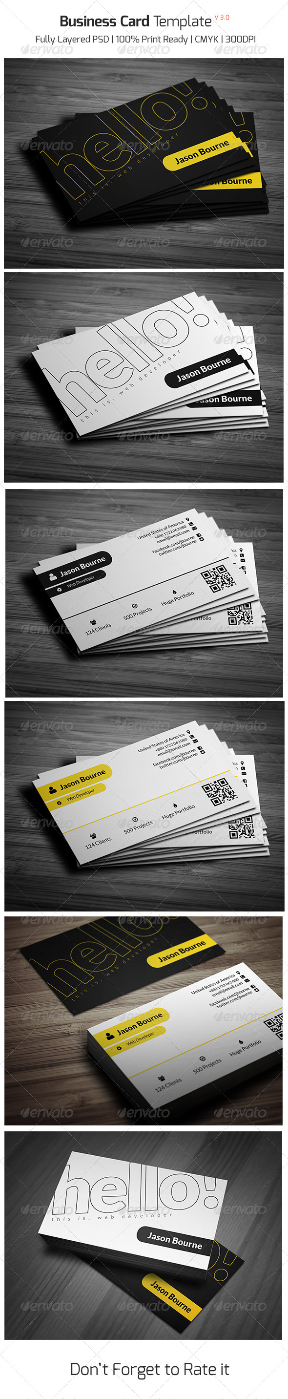 GraphicRiver Business Card Template v 3.0 8020706