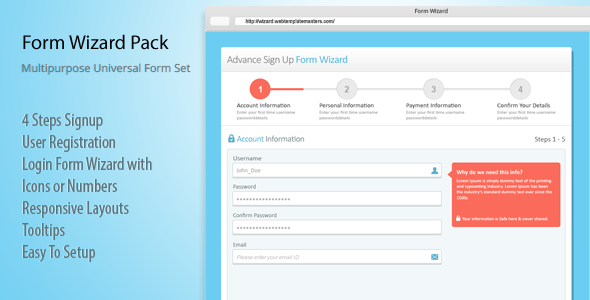 CodeCanyon Responsive Login Sign Up and Payment Form Wizard 8020781