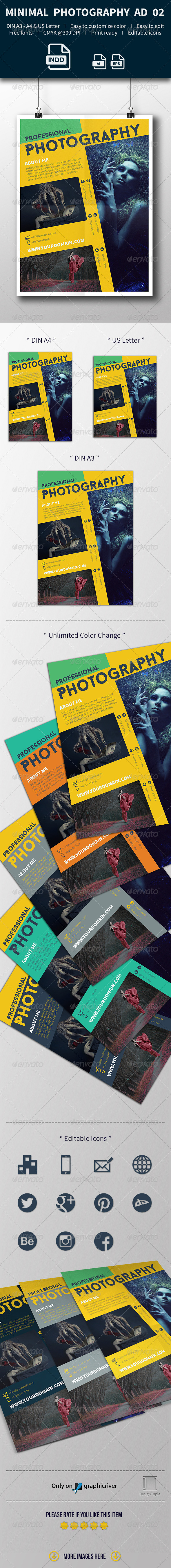 GraphicRiver Get Minimal Photography Ad Template 02 8021331