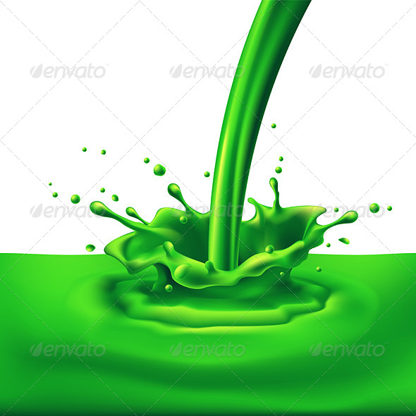 GraphicRiver Green Paint Splashing 8021343