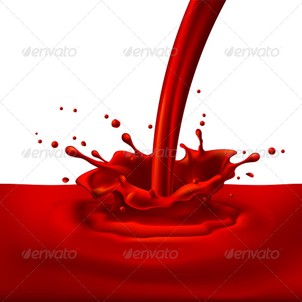 GraphicRiver Red Paint Splashing 8021347