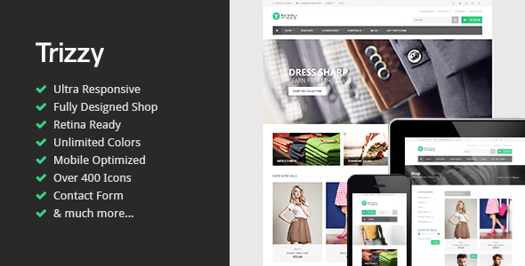 ThemeForest Trizzy Responsive Multi-Purpose Shop Template 7950329