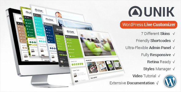 ThemeForest Unik Ultra-Customizable WordPress Theme 7964836