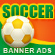 Soccer Banner Ads - GraphicRiver Item for Sale