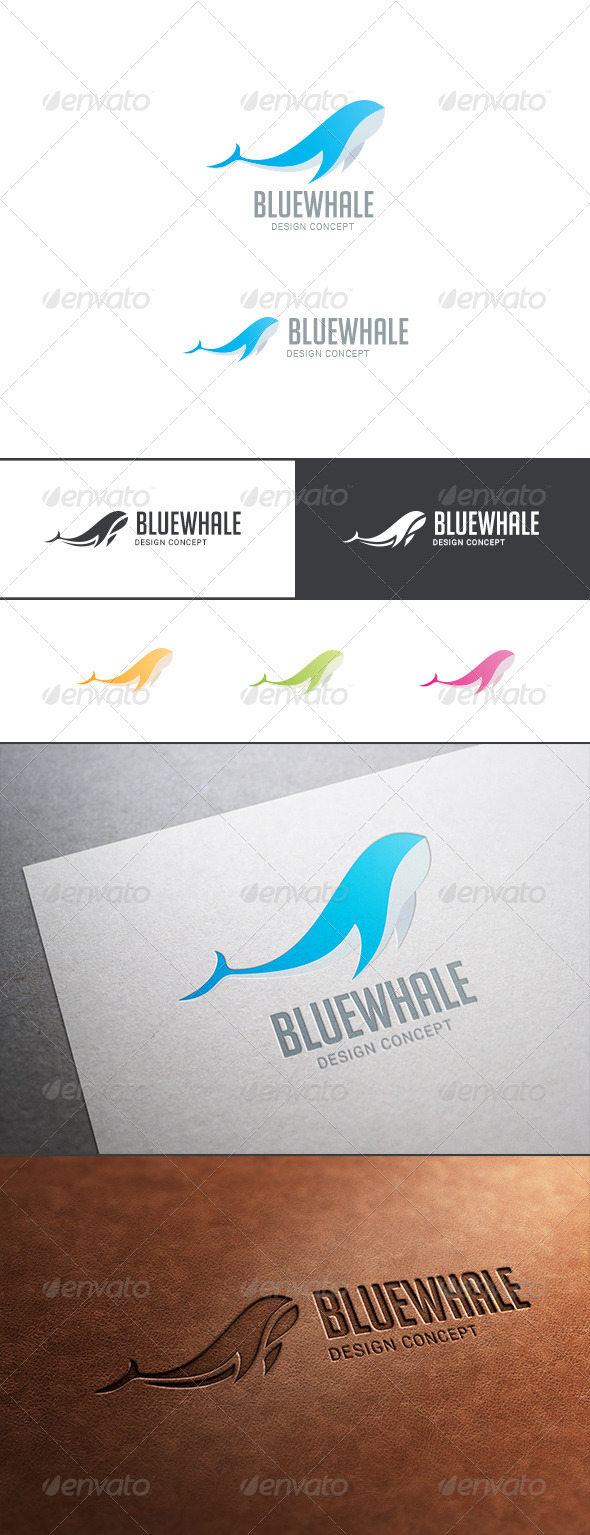 GraphicRiver Whale Fish Abstract Logo 8021584