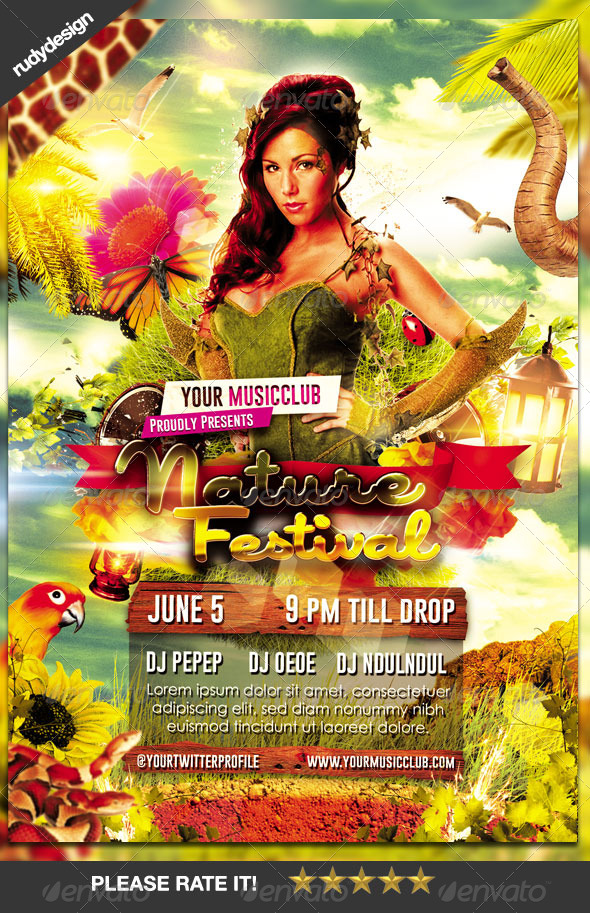 GraphicRiver Nature Festival Flyer Template 8021638