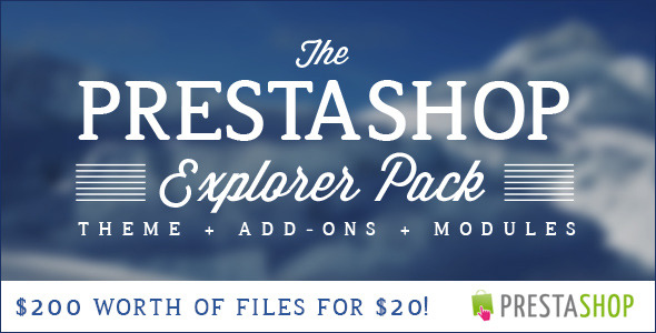 CodeCanyon The PrestaShop Explorer Pack is on for 1 Week only 7809395