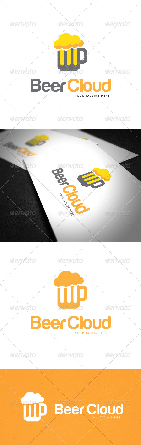 GraphicRiver Beer Cloud Logo Template 8021708