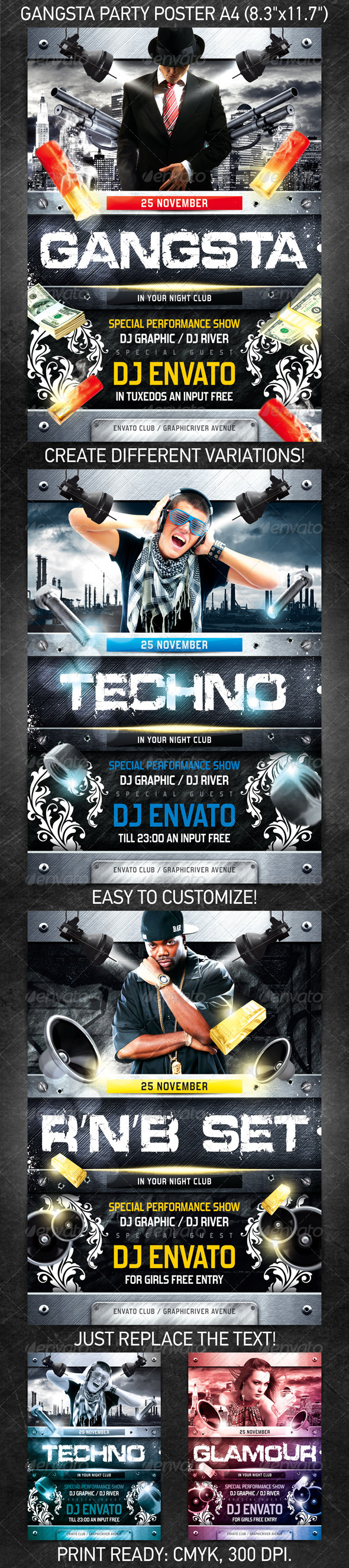 GraphicRiver Gangsta Party Poster 782231