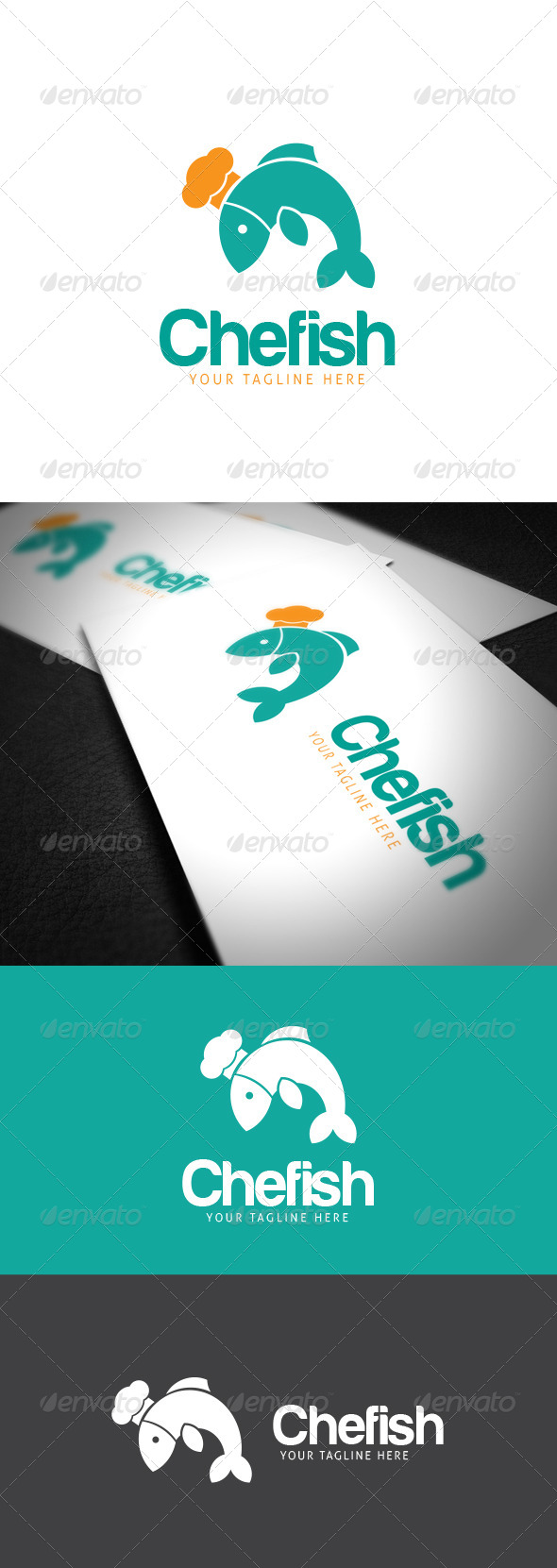 GraphicRiver Chefish Logo Template 8021712