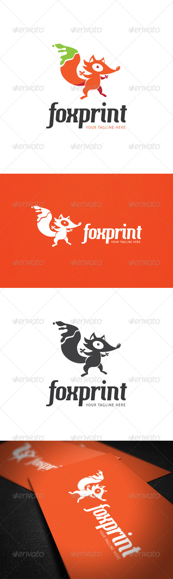 GraphicRiver Foxprint Logo Template 8021756