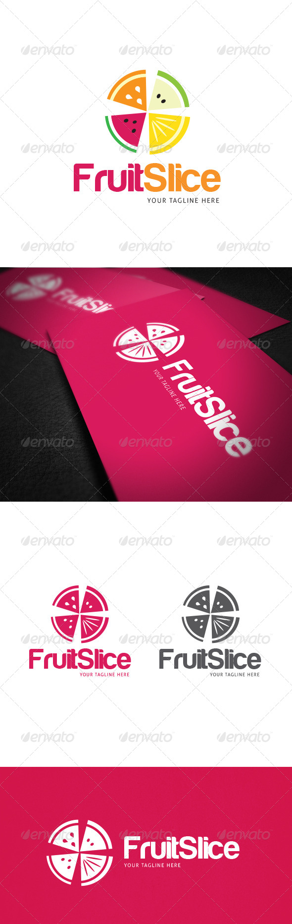 Fruit Slice Logo Template