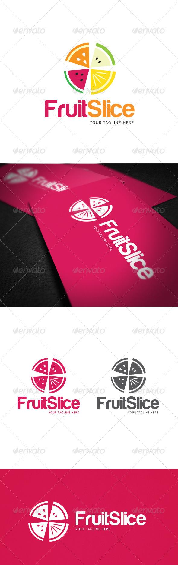 GraphicRiver Fruit Slice Logo Template 8021766