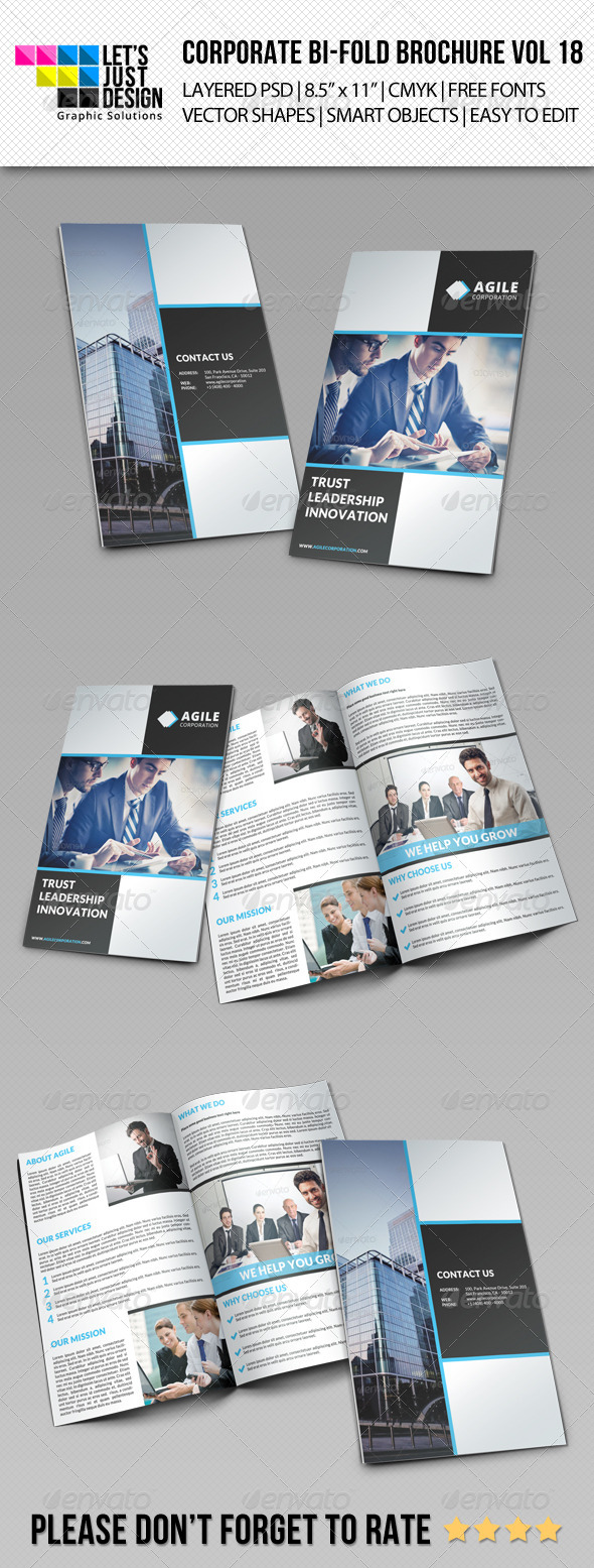 GraphicRiver Corporate Bi-Fold Brochure Vol 18 8021767