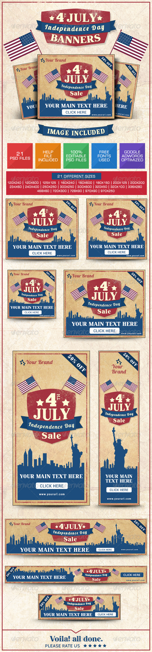 GraphicRiver July 4th Sale Banners 8021778