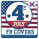July 4th Sale Facebook Cover Page - GraphicRiver Item for Sale