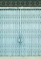 Light blue old metal grille sliding door - PhotoDune Item for Sale