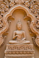 Buddha sculpture on temple wall at Wat Tham Pu Wa Kanchanaburi, Thailand - PhotoDune Item for Sale